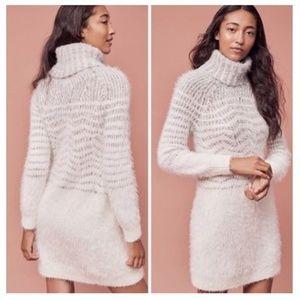 Sleeping On Snow Eyelash Turtleneck Sweater Dress
